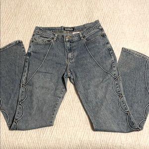 Gasoline Retro Flared Stretch Jeans